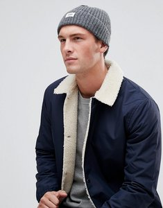 Read more about Esprit ribbed fisherman beanie in charcoal - 202 dk grey