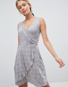 Read more about Gilli drape front midi dress - grey