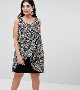 Read more about Koko animal print wrap front dress - multi