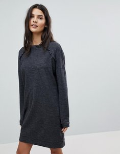Read more about Esprit frill detail knitted dress - grey