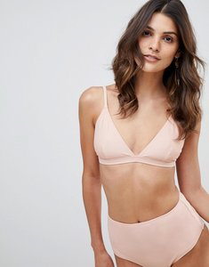 Read more about Warehouse high waisted bikini briefs in light pink - pink