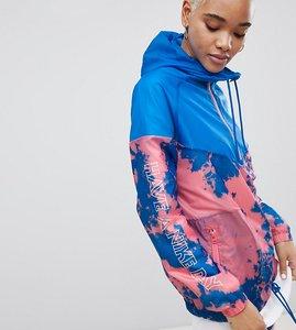 Read more about Nike tie dye print windbreaker jacket - blue