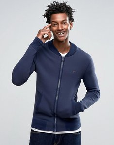 Read more about Hilfiger denim sweat bomber jacket with small logo - black iris