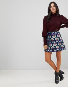 Read more about Traffic people jacquard a line skirt - navy blue