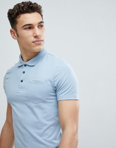 Read more about Burton menswear muscle fit polo shirt in blue - blue