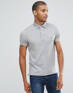 Read more about Tommy hilfiger slim fit polo in grey - cloud heather