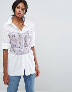 Read more about Asos organza corset with beading - lilac
