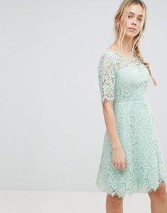 Read more about Glamorous lace skater dress - icy mint