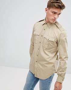Read more about Polo ralph lauren military shirt regular fit in beige - vintage camel