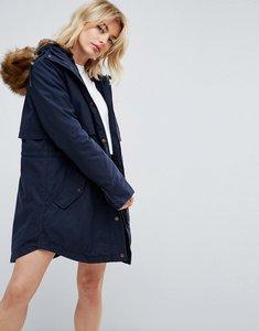 Read more about Parka london lara detachable fluffy lining parka - navy