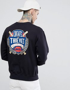 Read more about Cheats and thieves established back print sweatshirt - black