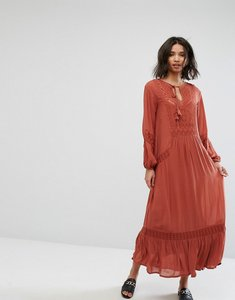 Read more about Mango embroidered smock dress - red