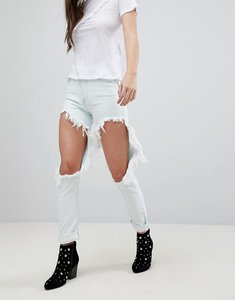 Read more about Glamorous ripped boyfriend jeans - bleach