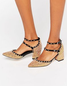 Read more about Asos slow down studded pointed heels - glitter