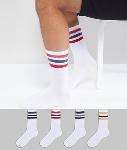 Read more about Jack jones 4 pack socks with skate stripe - multi