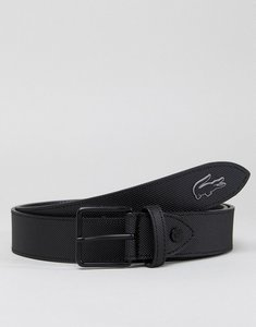 Read more about Lacoste leather belt in black - 000
