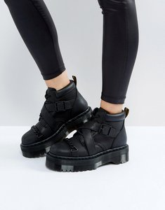 Read more about Dr martens beaumann cross strap flatform boots - black temperly
