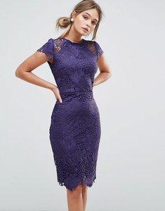 Read more about Paper dolls cap sleeve lace dress - plum