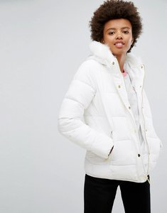 Read more about Brave soul short zip padded coat - white