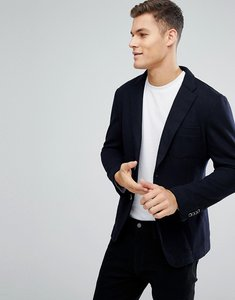 Read more about Esprit casual wool mix blazer in navy - navy 400
