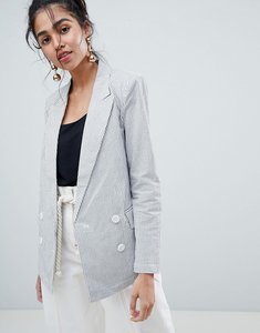 Read more about Oasis pinstripe oversized blazer - stripe