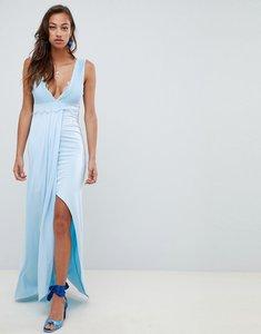 Read more about Asos design lace trim maxi dress - pale blue