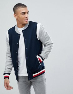 Read more about Tommy hilfiger stan varsity sweat bomber jacket sweatshirt in navy - sky captain