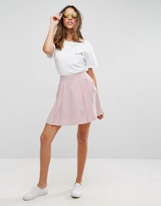 Read more about Asos tailored mini pleated skirt - nude