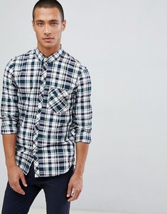 Read more about Tom tailor slim fit checked shirt - white