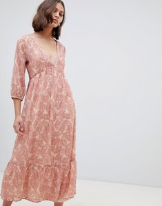 Read more about Ichi palm print maxi dress - rose dust