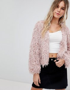 Read more about Bershka fluffy cardigan - pink