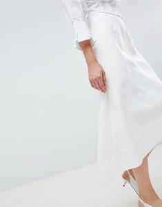 Read more about Asos white asymmetric a-line skirt - white