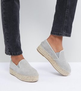 Read more about Steve madden phoebeee suede espadrille - grey seude
