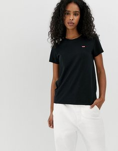 Read more about Levi s perfect white t shirt with chest logo in black - caviar