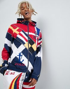 Read more about Polo ralph lauren cp-93 capsule limited edition sailing flags print lined hooded jacket in navy mult