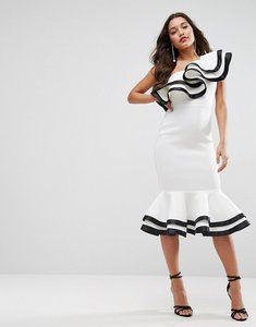 Read more about Asos red carpet scuba midi dress - ivory