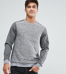 Read more about Only sons quilted sweatshirt with side zip - light grey