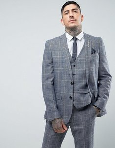 Read more about Harry brown slim fit tweed checked suit jacket - blue