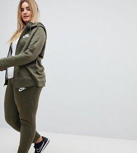 Read more about Nike plus rally cuffed sweat pants in khaki - green