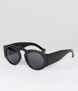 Read more about Jeepers peepers chunky frame round sunglasses - black