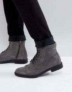 Read more about Kg by kurt geiger military lace up boots black - grey