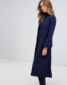 Read more about Helene berman longline duster with frill sleeve - navy