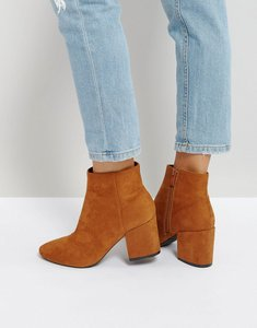 Read more about Raid kola block heeled ankle boots - tan