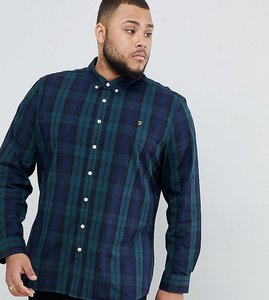 Read more about Farah slim fit check shirt with in navy watkins - navy
