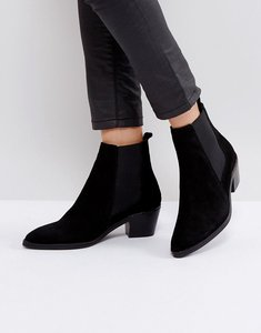 Read more about H by hudson leather ankle boots - black suede