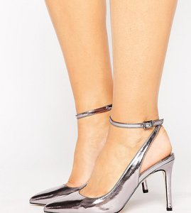 Read more about Faith wide fit canyon heeled shoes - metallic