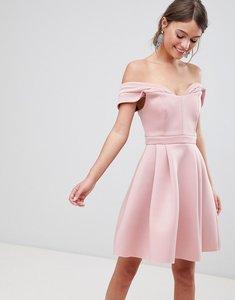 Read more about Asos bardot cold shoulder mini prom dress - blush