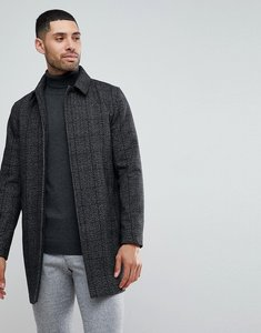 Read more about Stanley adams check wool mac - black