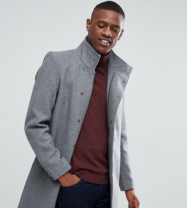 Read more about Only sons funnel neck overcoat - light grey melange