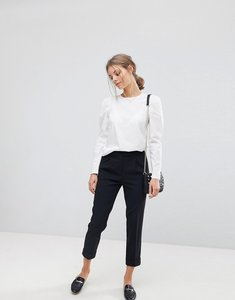 Read more about Esprit tailored trouser crop high waist - black